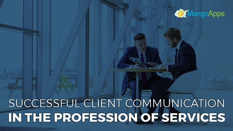 Successful client communication in the profession of services