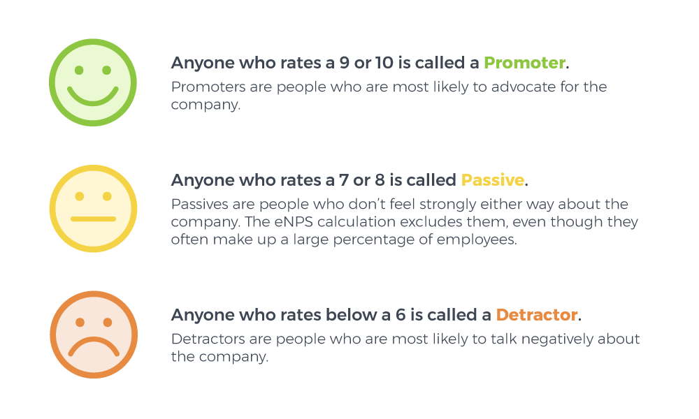 Promoter, Passive, and Detractor visual explanation
