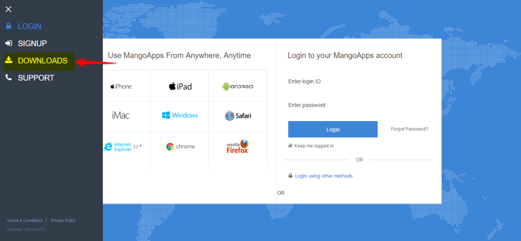 Where can I download all of the MangoApps Clients