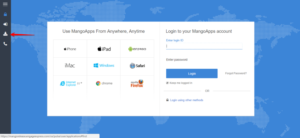 Where can I download MangoApps clients for iOS, Android