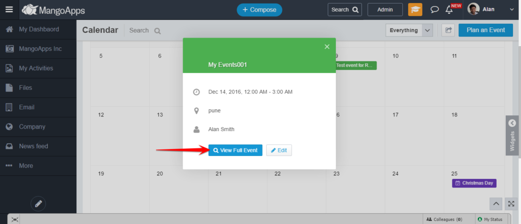 How can I comment on an Event in MangoApps? – MangoApps Help