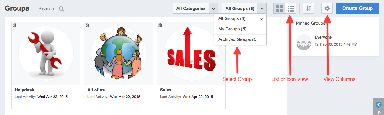 Customize Your Group View « MangoApps Getting Started Guide