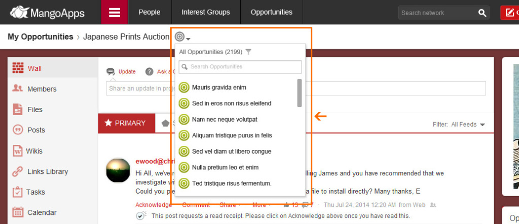 You now have the ability to switch quickly to another opportunity directly from the details page.