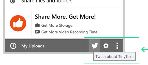 Encourage friends and colleagues to use TinyTake by sharing links over your social media accounts.