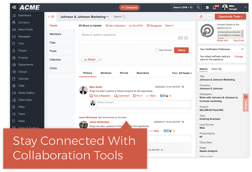 Communicate and Collaborate In Real Time