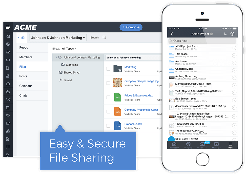 Share Quotes, Contacts, and Files
