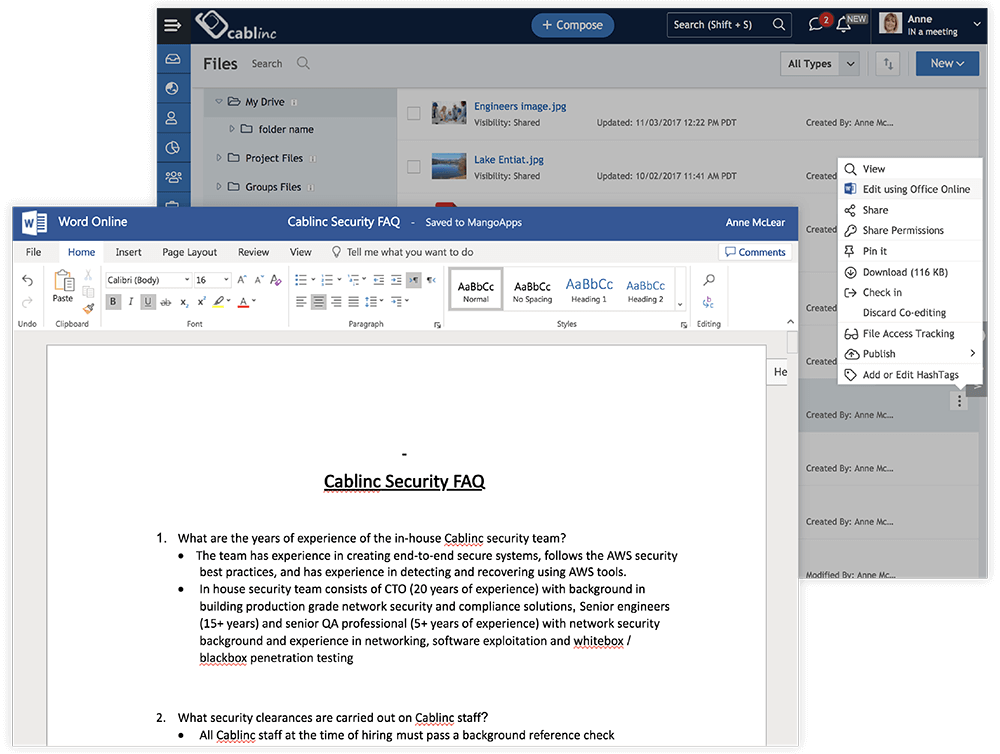 Co-Author and Edit With Office 365 Integration