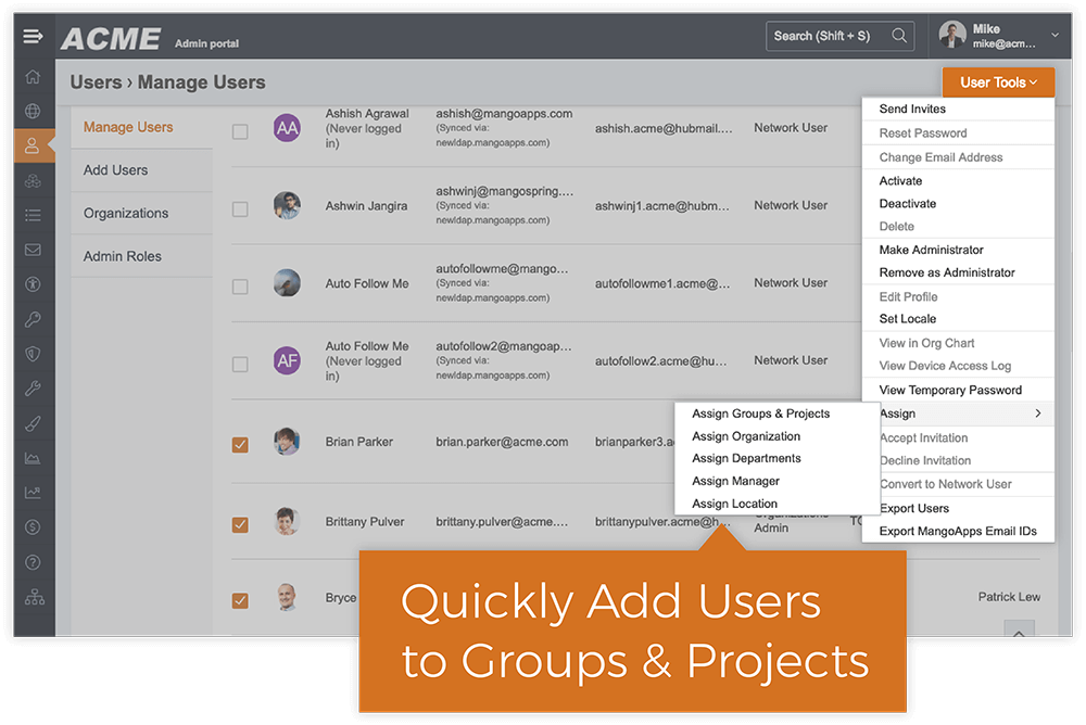 Add Users To Multiple Groups and Projects