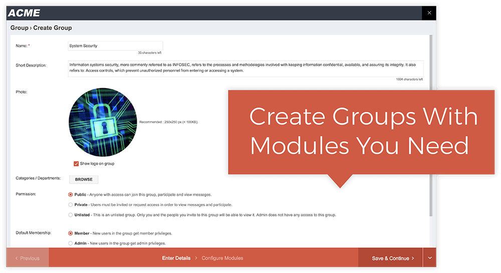 Create Groups With Ease