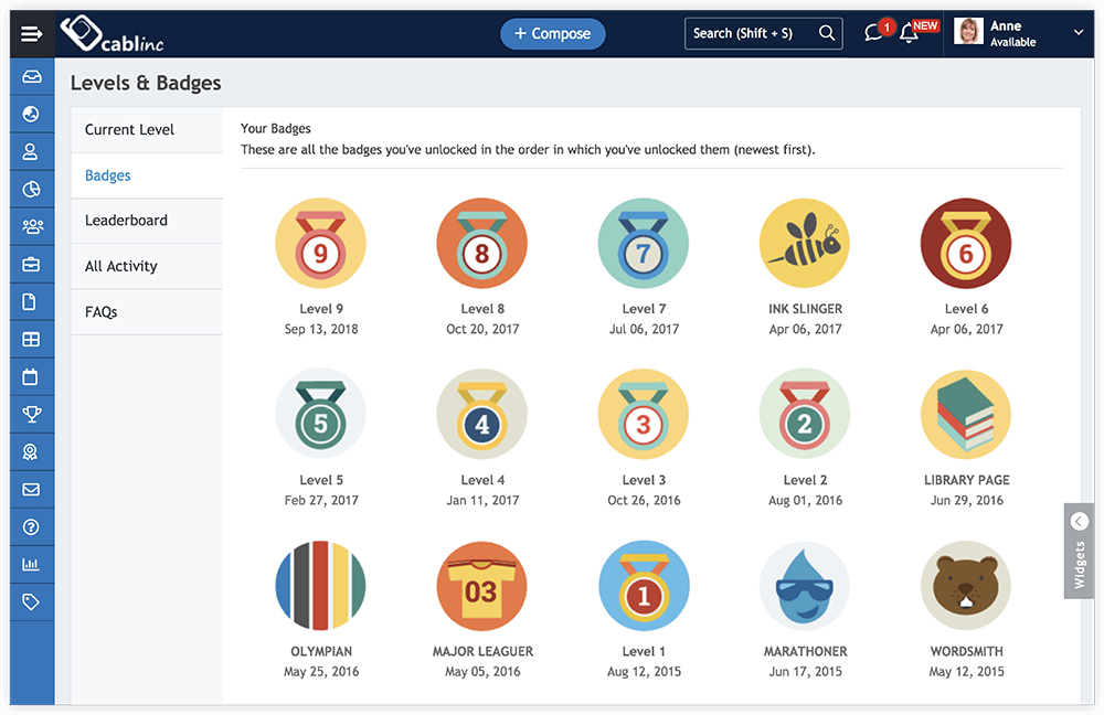 Earn Badges While Working and Exploring