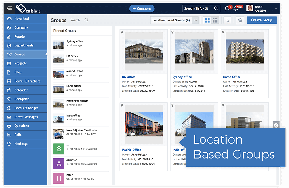 Location Based Groups