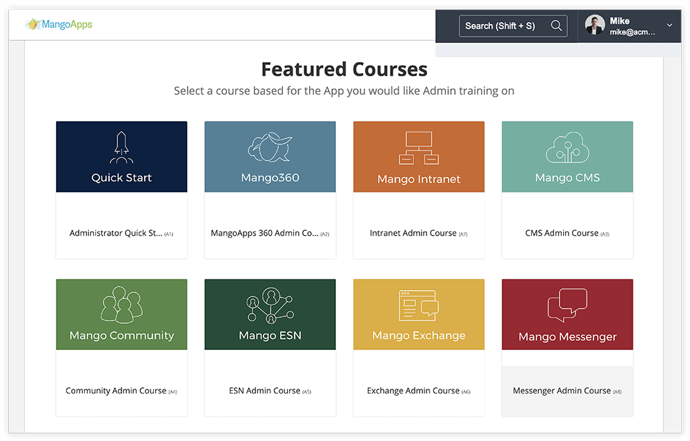 Courses and Exams for Every App