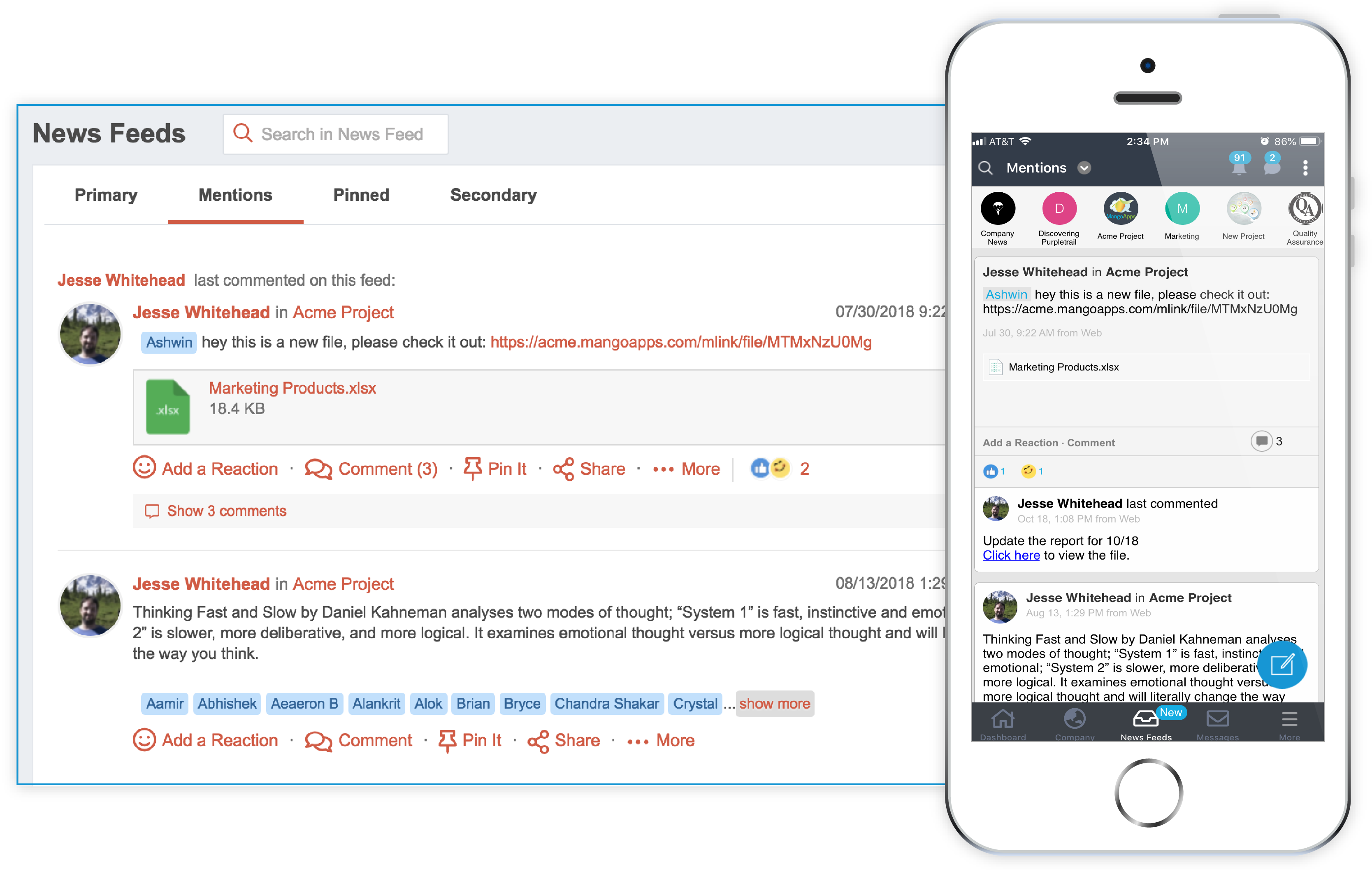 News Feed and More For Mobile Employees