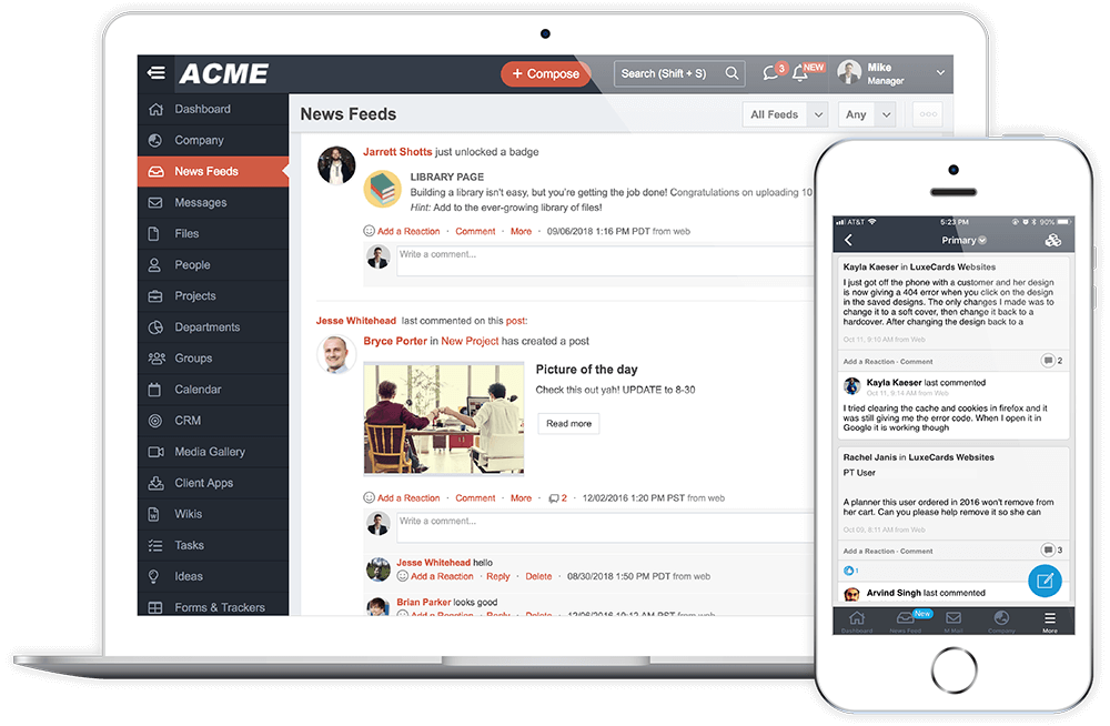 Replace emails and meetings with MangoApps