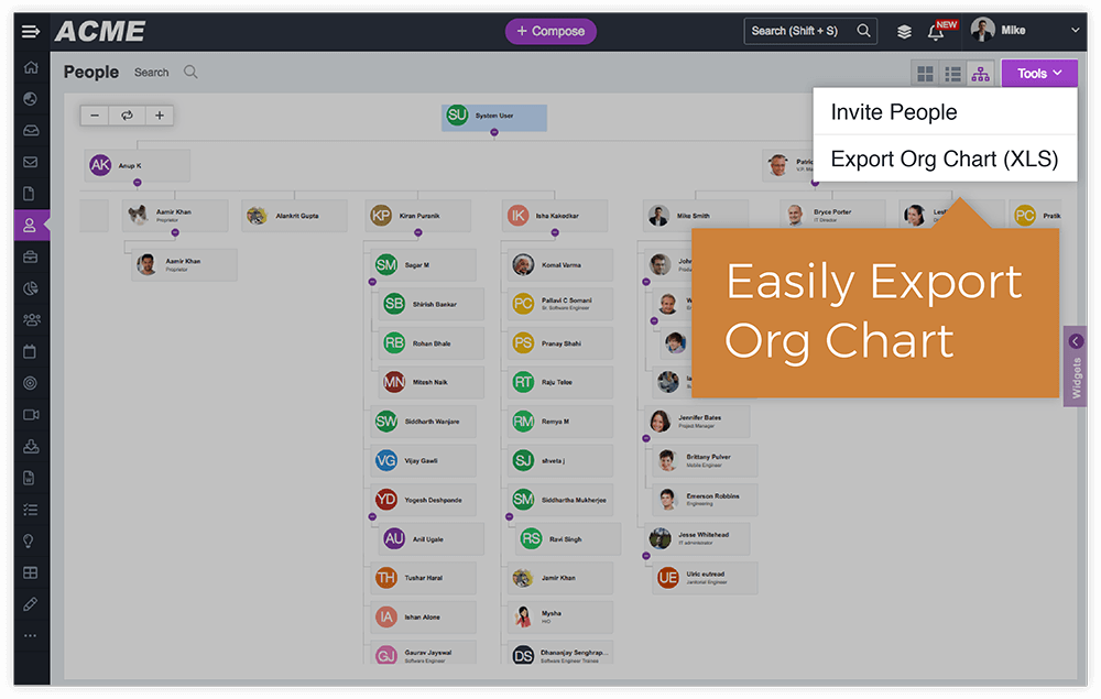 Export Your Org Chart