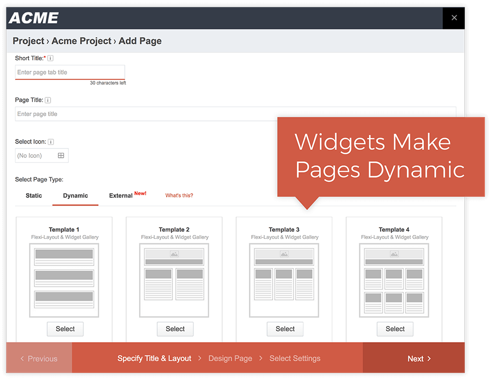 Create Dynamic Pages