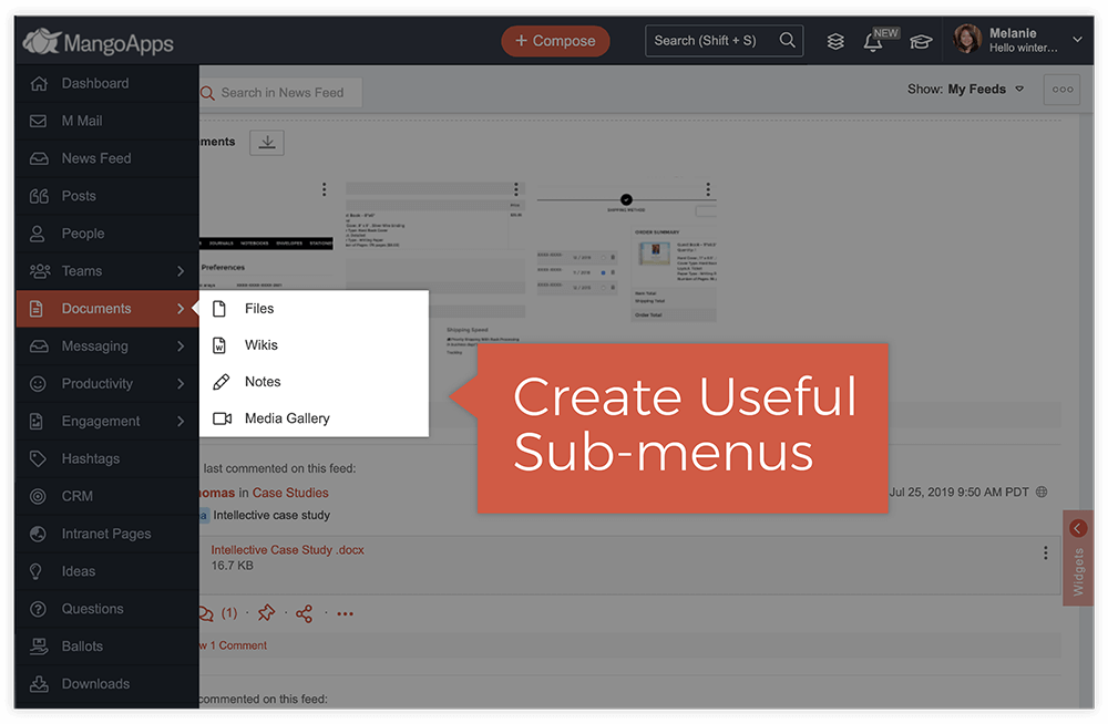 Organize Navigation Into Menus and Sub-Menus