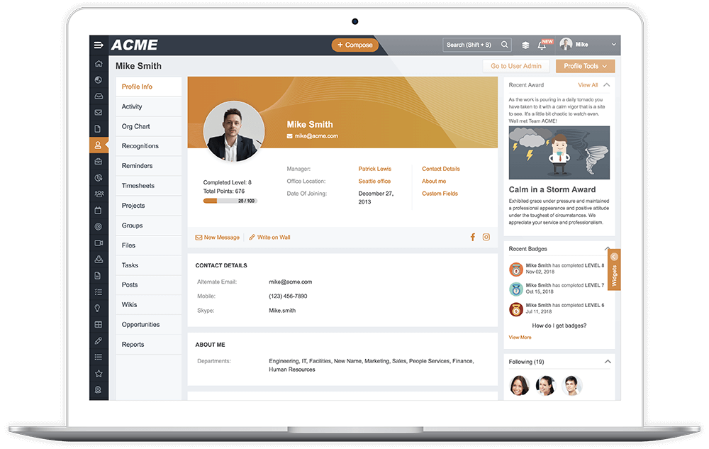Descriptive Profile Pages use Office Locations