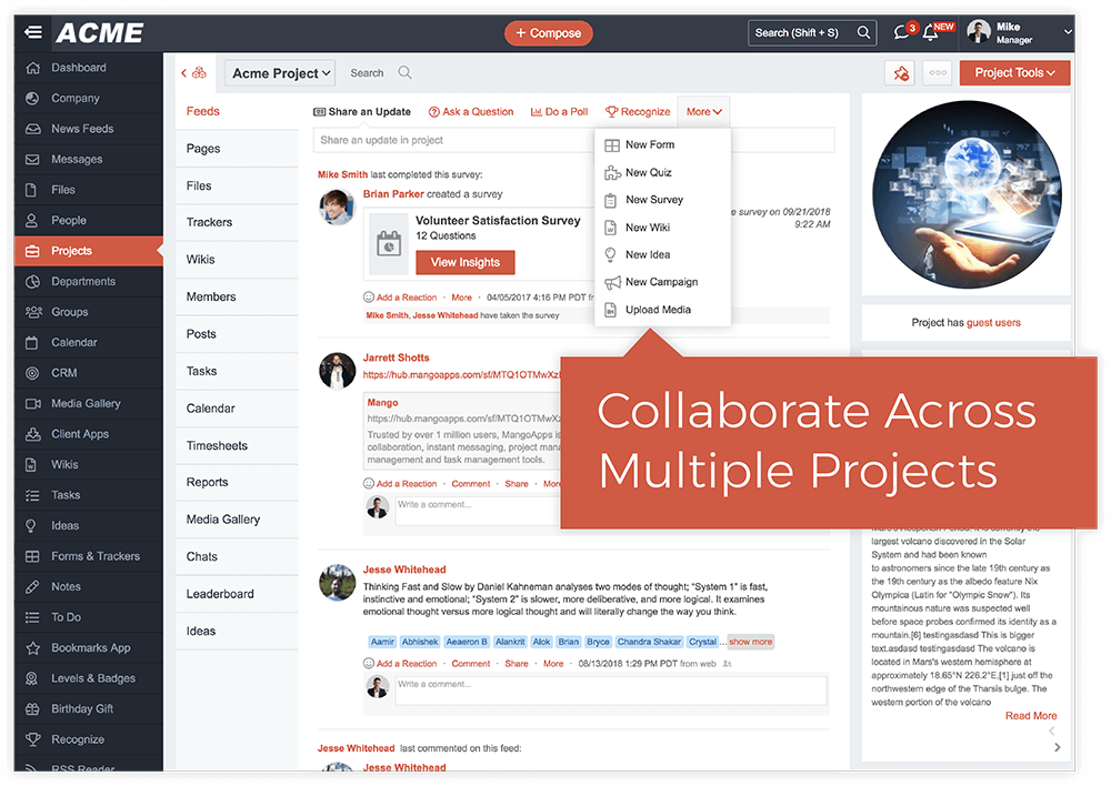 Collaborate and Track Progress Across Multiple Projects
