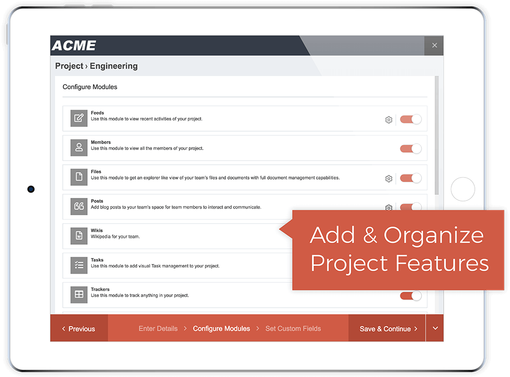 Customize Projects From Simple To Full-Featured