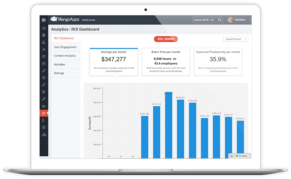 ROI Dashboard For Company Insights