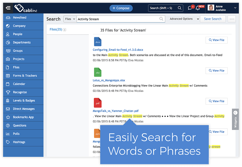 Search By Document Text
