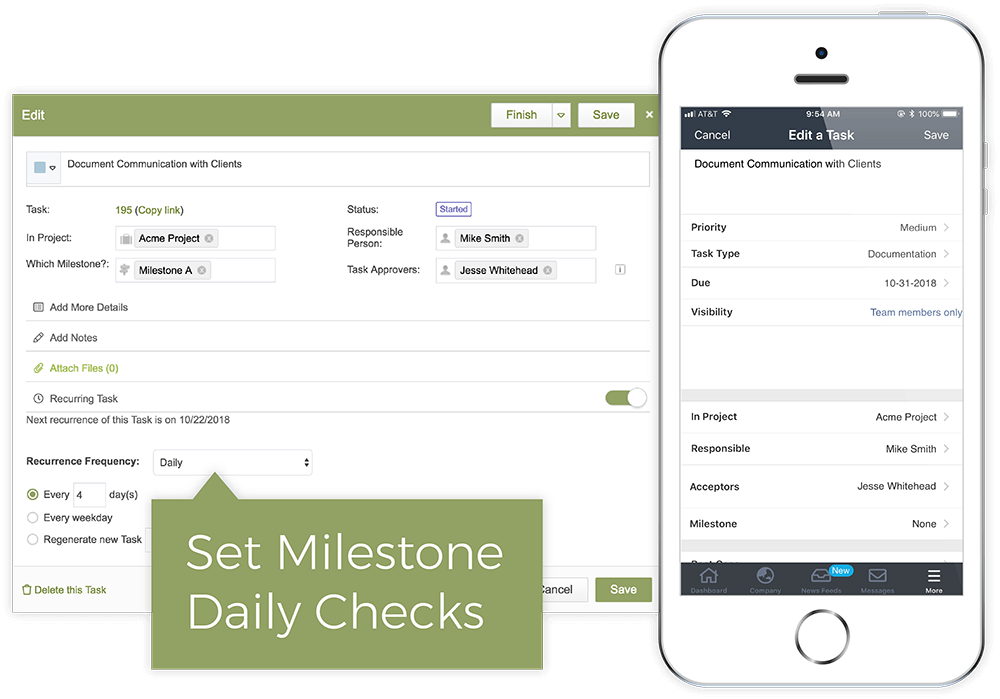 Manage Milestone Health