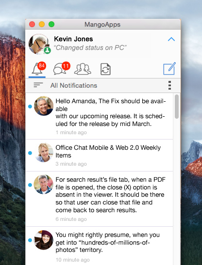 MangoApps messenger for Mac with File Sync Plugin