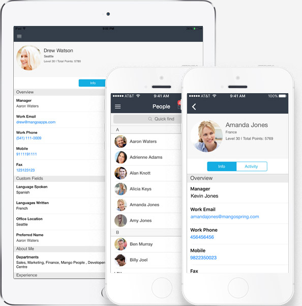 Mobile employee directory of your company