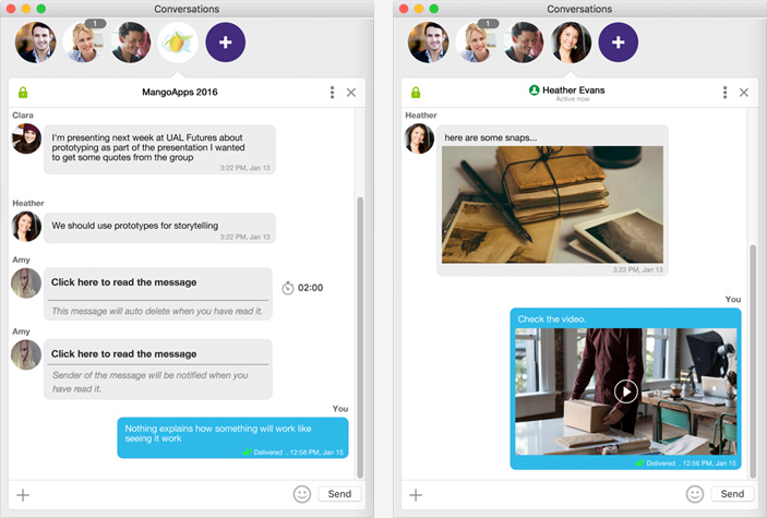 Real-time messaging for your teams