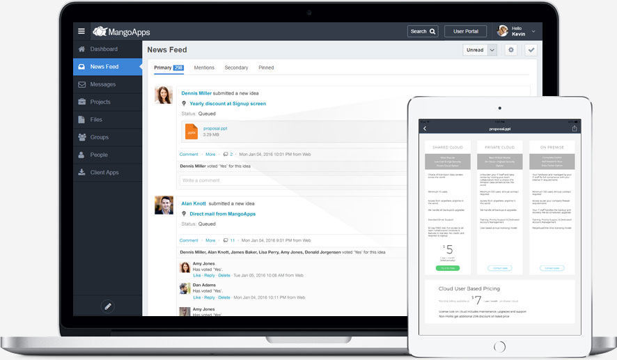Attach proposals directly with your ideas as attachments