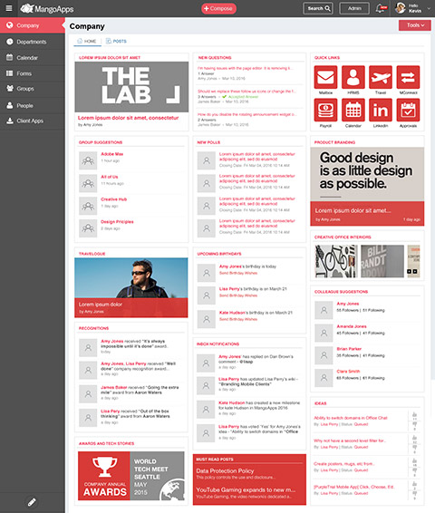 MangoApps Social Intranet Designs