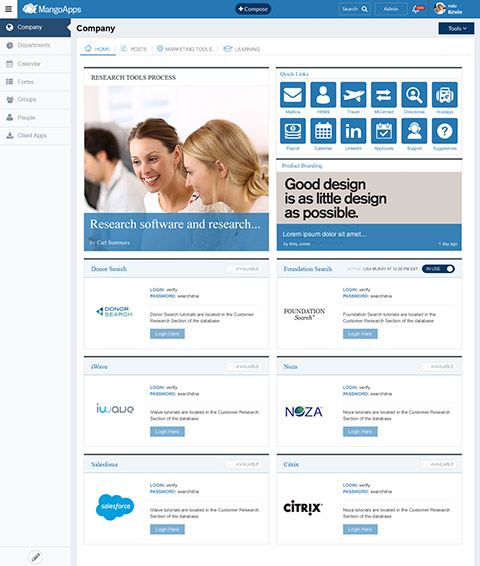 Modern intranet social intranet simple intranet best for Intranet portal design templates