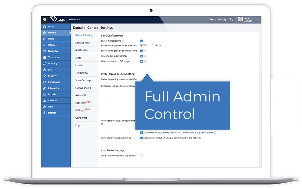 Full Administrator Control