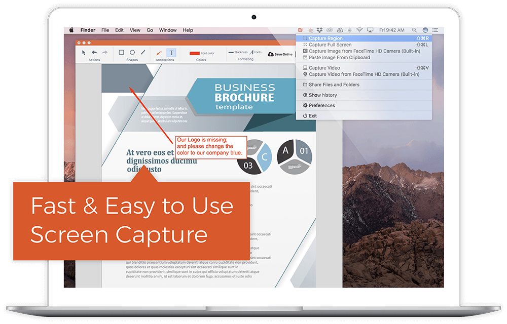 Capture Images, Annotate, and Share