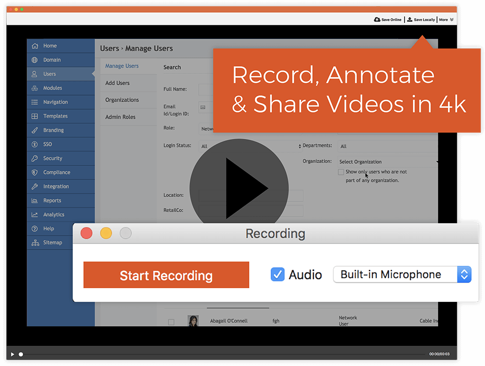 Record and Annotate Videos In 4K